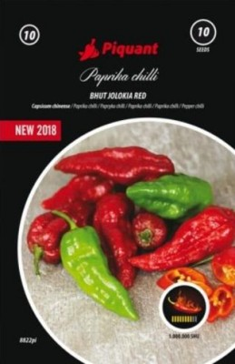 Paprika chilli Bhut Jolokia Red